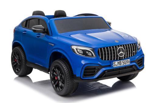 "Kinderfahrzeug - Elektro Auto ""Mercedes GLC63S"" - lizenziert - Doppelsitzer - 12V10AH Akku,4 Motoren+ 2,4Ghz+Ledersitz-Blau-3"