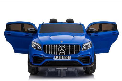 "Kinderfahrzeug - Elektro Auto ""Mercedes GLC63S"" - lizenziert - Doppelsitzer - 12V10AH Akku,4 Motoren+ 2,4Ghz+Ledersitz-Blau-2"