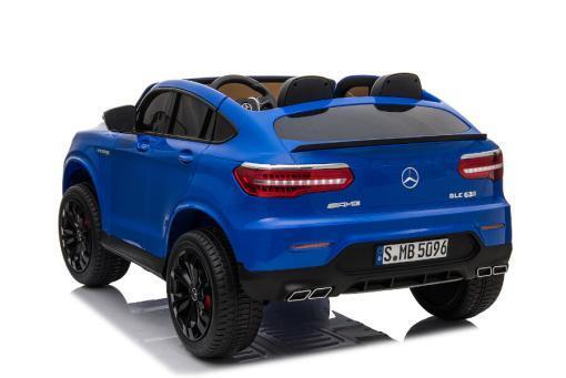 "Kinderfahrzeug - Elektro Auto ""Mercedes GLC63S"" - lizenziert - Doppelsitzer - 12V10AH Akku,4 Motoren+ 2,4Ghz+Ledersitz-Blau-4"