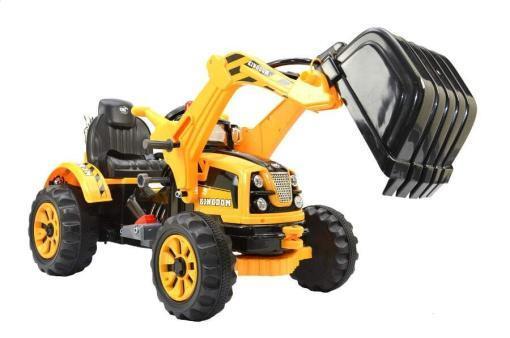 Elektro Kinderfahrzeug Kinderauto Baufahrzeug Bagger für Kinder ab 2 Jahre 12V Gelb-1