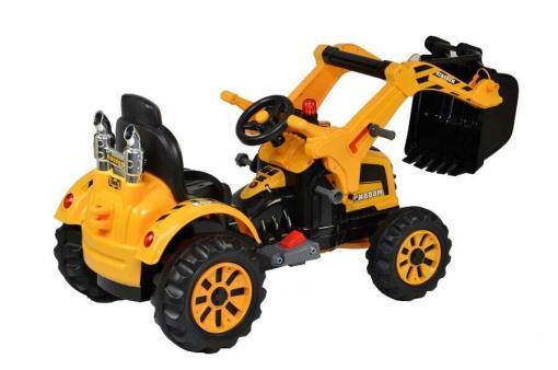 Elektro Kinderfahrzeug Kinderauto Baufahrzeug Bagger für Kinder ab 2 Jahre 12V Gelb-2