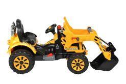 Elektro Kinderfahrzeug Kinderauto Baufahrzeug Bagger für Kinder ab 2 Jahre 12V Gelb-3
