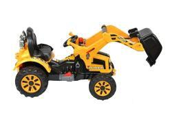 Elektro Kinderfahrzeug Kinderauto Baufahrzeug Bagger für Kinder ab 2 Jahre 12V Gelb-4