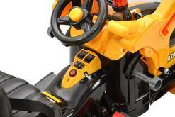 Elektro Kinderfahrzeug Kinderauto Baufahrzeug Bagger für Kinder ab 2 Jahre 12V Gelb-7