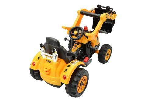 Elektro Kinderfahrzeug Kinderauto Baufahrzeug Bagger Gelb für Kinder ab 2 Jahre 12V-9