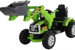 Elektro Kinderfahrzeug Kinderauto Baufahrzeug Bagger Grün für Kinder ab 2 Jahre 12V-1