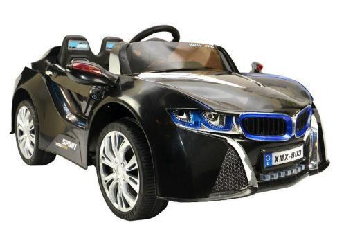 Elektro Kinderfahrzeug Kinderauto für Kinder ab 2 Jahre 12V Schwarz Lichter LED Flügeltüren-11