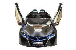 Elektro Kinderfahrzeug Kinderauto für Kinder ab 2 Jahre 12V Schwarz Lichter LED Flügeltüren-2