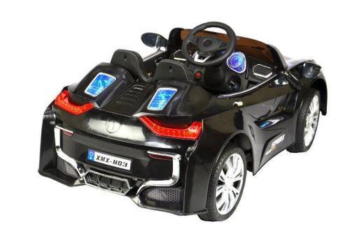 Elektro Kinderfahrzeug Kinderauto für Kinder ab 2 Jahre 12V Schwarz Lichter LED Flügeltüren-3