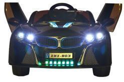 Elektro Kinderfahrzeug Kinderauto für Kinder ab 2 Jahre 12V Schwarz Lichter LED Flügeltüren-4