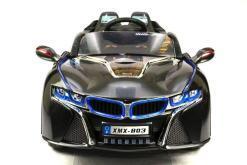 Elektro Kinderfahrzeug Kinderauto für Kinder ab 2 Jahre 12V Schwarz Lichter LED Flügeltüren-9