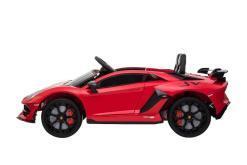 Kinderfahrzeug elektro von Lamborghini lizenziert - Aventador sv - mit Fernsteuerung, 12V, EVA und Ledersitz - rot- 3