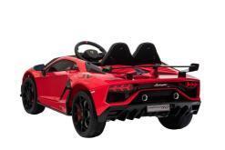 Kinderfahrzeug elektro von Lamborghini lizenziert - Aventador sv - mit Fernsteuerung, 12V, EVA und Ledersitz - rot- 4