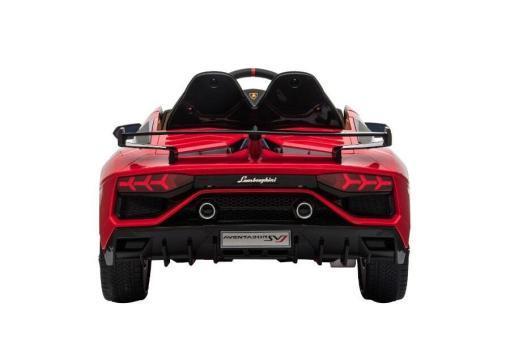 Kinderfahrzeug elektro von Lamborghini lizenziert - Aventador sv - mit Fernsteuerung, 12V, EVA und Ledersitz - rot- 5
