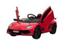 Kinderfahrzeug elektro von Lamborghini lizenziert - Aventador sv - mit Fernsteuerung, 12V, EVA und Ledersitz - rot- 7