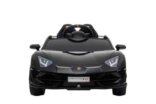 Kinderfahrzeug elektro von Lamborghini lizenziert - Aventador sv - mit Fernsteuerung, 12V, EVA und Ledersitz - schwarz- 1