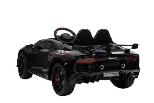 Kinderfahrzeug elektro von Lamborghini lizenziert - Aventador sv - mit Fernsteuerung, 12V, EVA und Ledersitz - schwarz- 4