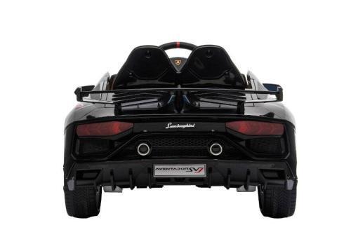 Kinderfahrzeug elektro von Lamborghini lizenziert - Aventador sv - mit Fernsteuerung, 12V, EVA und Ledersitz - schwarz- 5