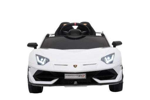 Kinderfahrzeug elektro von Lamborghini lizenziert - Aventador sv - mit Fernsteuerung, 12V, EVA und Ledersitz - weiss- 1