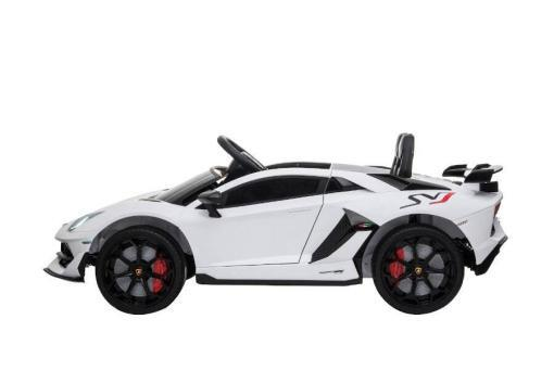 Kinderfahrzeug elektro von Lamborghini lizenziert - Aventador sv - mit Fernsteuerung, 12V, EVA und Ledersitz - weiss- 3