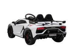 Kinderfahrzeug elektro von Lamborghini lizenziert - Aventador sv - mit Fernsteuerung, 12V, EVA und Ledersitz - weiss- 4