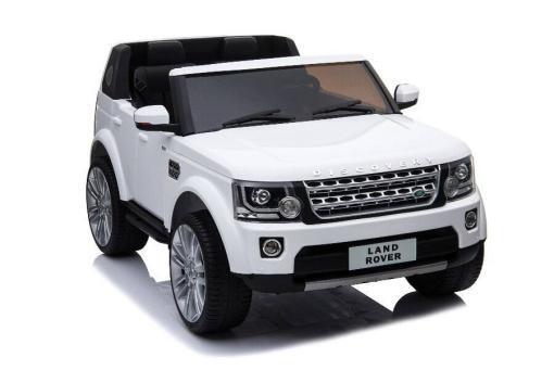 Kinderfahrzeug elektro von lizenziert - Land Rover Discovery - mit Fernsteuerung, 12V, EVA und Ledersitz - weiss- 1