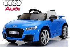 Elektro Kinderfahrzeug Kinderauto für Kinder ab 2 Jahre Audi TTRS Blau 12V Lizenziert Sportwagen mit Fernbedienung-1