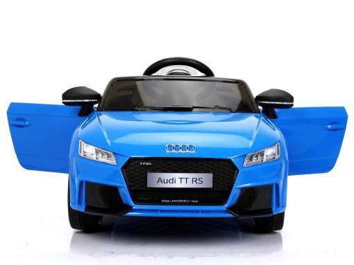 Elektro Kinderfahrzeug Kinderauto für Kinder ab 2 Jahre Audi TTRS Blau 12V Lizenziert Sportwagen mit Fernbedienung-2