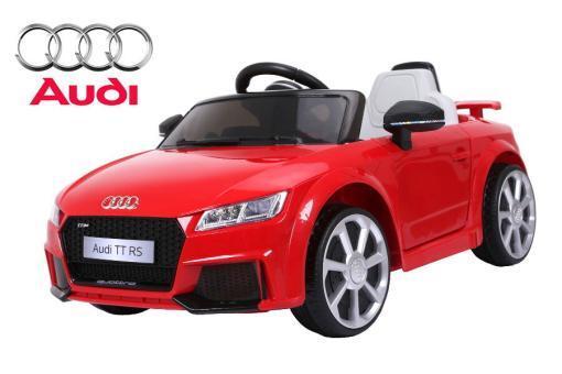 Elektro Kinderfahrzeug Kinderauto für Kinder ab 2 Jahre Audi TTRS Rot12V Lizenziert Sportwagen mit Fernbedienung-1