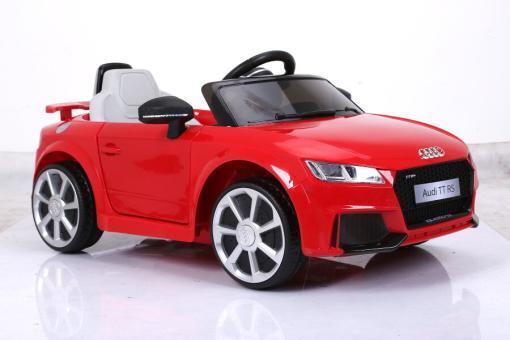 Elektro Kinderfahrzeug Kinderauto für Kinder ab 2 Jahre Audi TTRS Rot12V Lizenziert Sportwagen mit Fernbedienung-3