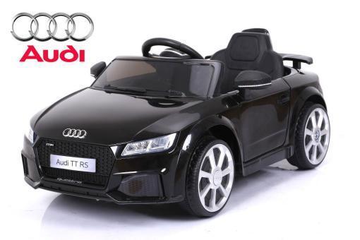 Elektro Kinderfahrzeug Kinderauto für Kinder ab 2 Jahre Audi TTRS Schwarz 12V Lizenziert Sportwagen mit Fernbedienung-1