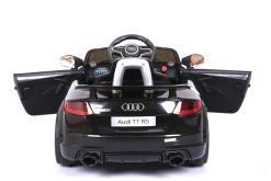 Elektro Kinderfahrzeug Kinderauto für Kinder ab 2 Jahre Audi TTRS Schwarz 12V Lizenziert Sportwagen mit Fernbedienung-10