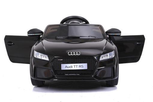 Elektro Kinderfahrzeug Kinderauto für Kinder ab 2 Jahre Audi TTRS Schwarz 12V Lizenziert Sportwagen mit Fernbedienung-2