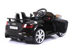 Elektro Kinderfahrzeug Kinderauto für Kinder ab 2 Jahre Audi TTRS Schwarz 12V Lizenziert Sportwagen mit Fernbedienung-3
