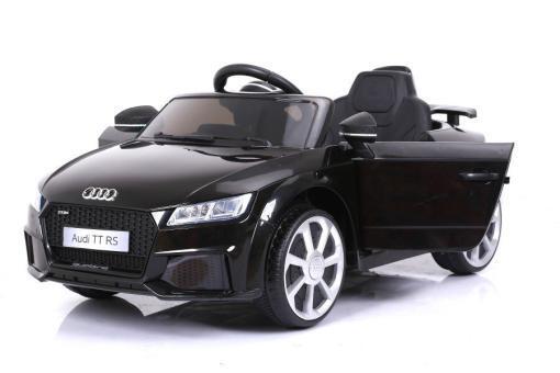 Elektro Kinderfahrzeug Kinderauto für Kinder ab 2 Jahre Audi TTRS Schwarz 12V Lizenziert Sportwagen mit Fernbedienung-5