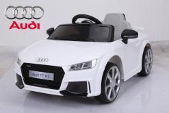 Elektro Kinderfahrzeug Kinderauto für Kinder ab 2 Jahre Audi TTRS Weiß12V Lizenziert Sportwagen mit Fernbedienung-1