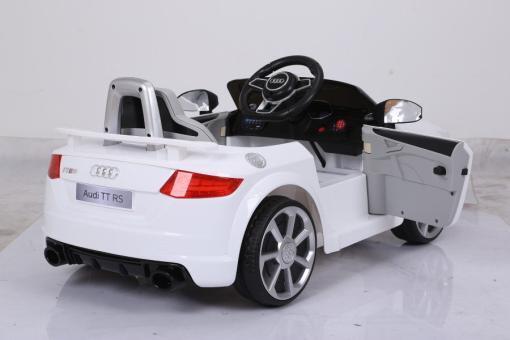 Elektro Kinderfahrzeug Kinderauto für Kinder ab 2 Jahre Audi TTRS Weiß12V Lizenziert Sportwagen mit Fernbedienung-2