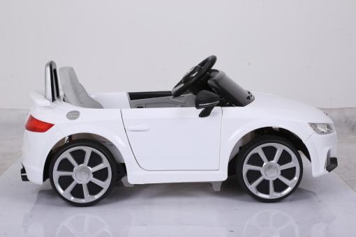 Elektro Kinderfahrzeug Kinderauto für Kinder ab 2 Jahre Audi TTRS Weiß12V Lizenziert Sportwagen mit Fernbedienung-3