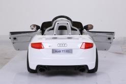 Elektro Kinderfahrzeug Kinderauto für Kinder ab 2 Jahre Audi TTRS Weiß12V Lizenziert Sportwagen mit Fernbedienung-4