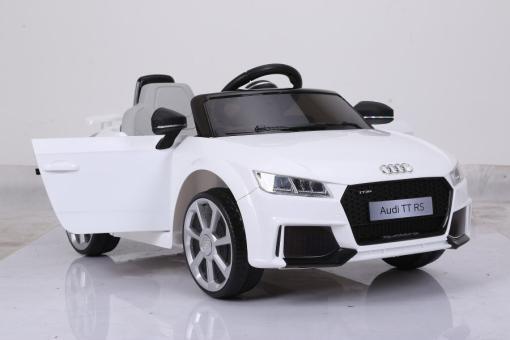 Elektro Kinderfahrzeug Kinderauto für Kinder ab 2 Jahre Audi TTRS Weiß12V Lizenziert Sportwagen mit Fernbedienung-5