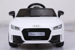 Elektro Kinderfahrzeug Kinderauto für Kinder ab 2 Jahre Audi TTRS Weiß12V Lizenziert Sportwagen mit Fernbedienung-6