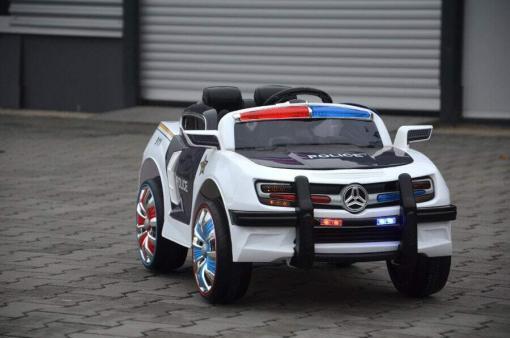 Elektro Kinderfahrzeug Kinderauto Polizei für Kinder ab 2 Jahre Schwarz mit Sirene 12V-10