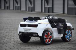 Elektro Kinderfahrzeug Kinderauto Polizei für Kinder ab 2 Jahre Schwarz mit Sirene 12V-11