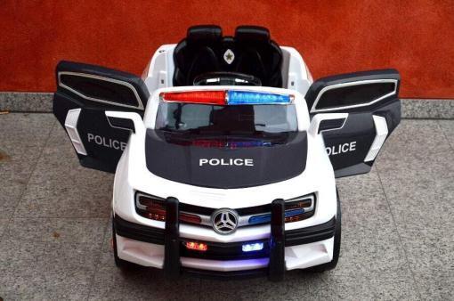 Elektro Kinderfahrzeug Kinderauto Polizei für Kinder ab 2 Jahre Schwarz mit Sirene 12V-41