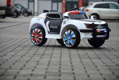 Elektro Kinderfahrzeug Kinderauto Polizei für Kinder ab 2 Jahre Schwarz mit Sirene 12V-61