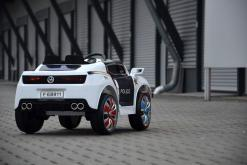 Elektro Kinderfahrzeug Kinderauto Polizei für Kinder ab 2 Jahre Schwarz mit Sirene 12V-71