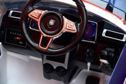 Elektro Kinderfahrzeug Kinderauto Polizei für Kinder ab 2 Jahre Weiß mit Sirene 12V-5