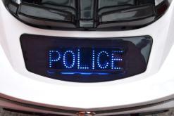 Elektro Kinderfahrzeug Kinderauto Polizei für Kinder ab 2 Jahre Weiß mit Sirene 12V-8