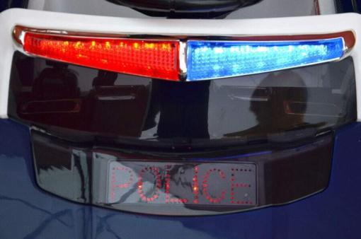 Elektro Kinderfahrzeug Kinderauto Polizei für Kinder ab 2 Jahre Weiß mit Sirene 12V-9