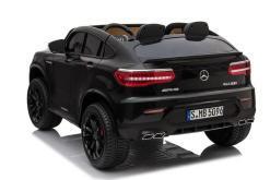 Elektro Kinderfahrzeug lizenziert Mercedes GLC AMG - mit Ledersitz, EVA Reifen und Lackiert - schwarz -3m